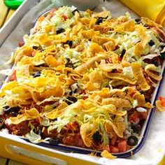 Texas Taco Dip Platter- Mix up your Taco Tuesday menu with recipes you'll want to make every night of the week! From traditional tacos and fajitas to taco dips and casseroles, find a new favorite way to get your taco fix. Mexican Dishes, Mexican Food Recipes, Beef Recipes, Cooking Recipes, Ethnic Recipes, Mexican Meals, African Recipes, Cooking Tips, Appetizer Recipes