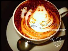 latte art ムーミンもどうぞ!