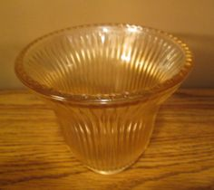 """Glass Lamp Shade - Heavy Amber - Hobnail Trim - 5"""" Tall - Excellent Vintage Condition - with Free Shipping"""
