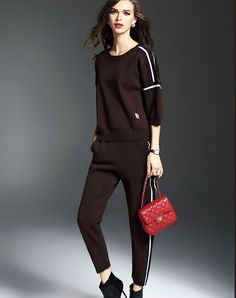 Check the details and price of this Red Knitted Sweater & Pants (Red, multiflora) and buy it online. www.vipme.com/ offers high-quality Co-Ords at affordable price.