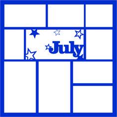 July 12 x 12 Overlay Laser Die Cut Scrapbook Patterns, Scrapbook Templates, Scrapbook Sketches, Scrapbooking Layouts, Digital Scrapbooking, Birthday Scrapbook, Baby Scrapbook, Scrapbook Pages, Wedding Scrapbook