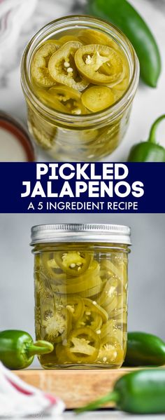 This Pickled Jalapeño recipe is a fast and easy condiment that you will love having in your refrigerator. Pickled Jalapeno Recipe, Jalapeno Recipes, Salsa Recipe, Pickling Jalapenos, Spice Mixes, Stuffed Hot Peppers, Pickles, Appetizers, Cooking Recipes
