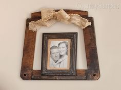 Utilize an old chair seat as a larger frame for a favorite photograph, embellishing it with a decorative bow. Country Wall Decor, Decorative Bows, Large Frames, Diy Projects To Try, Primitive, Lanterns, Larger, Embellishments, Photograph