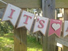 It's A Girl Banner - It's A Girl Baby Shower - Girl Baby Shower Banner - Shabby Chic Baby Shower - Baby Shower Decor - Baby Banner on Etsy