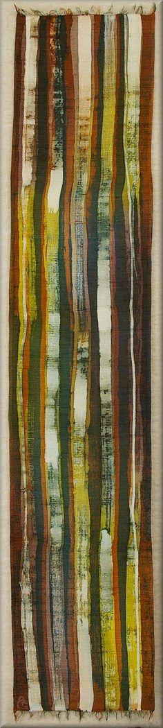 "Split Wood Series N0. 2 - Thick Dupioni Silk Unisex Scarf (approx. 11x60 inches)  Hand dyed by Laura Elderton ""SilkinArt""  https://www.etsy.com/shop/lauraelderton"