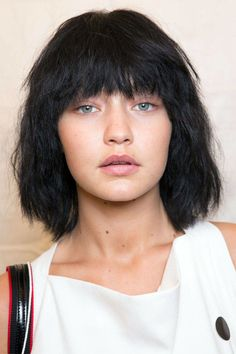 """Hairstyling genius Guido Palau cut the wigs at Marc Jacobs, but the messy, """"underground punk"""" style is one you could just as easily do yourself at home.    - HarpersBAZAAR.com"""