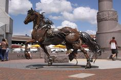 Steampunk Tendencies | Scrap Metal Horse by John Lopez http://www.steampunktendencies.com/post/79094451015/ New Group : Come to share, promote your art, your event, meet new people, crafters, artists, performers... https://www.facebook.com/groups/steampunktendencies