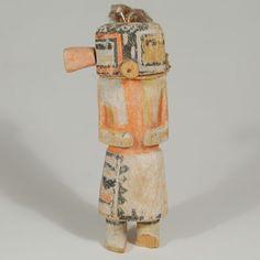"#adobegallery - Hopi Ma'alo Katsina Doll, circa 1930s. Category: Traditional Origin: Hopi Pueblo Medium: clay, paint Size: 7-1/4"" height Item # C3783G"