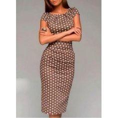 Vintage V Neck 3/4 Sleeves Printed Women's Dress | TwinkleDeals.com