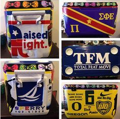 Custom Fraternity or Sorority Cooler From Bridget's Craft Shop 48 quart igloo