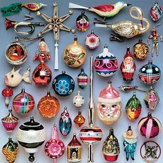 Ornaments! lots and lots of made by hand, old, and special items and their personal gifts regarding your desired quest.  #Vintagechristmasornaments