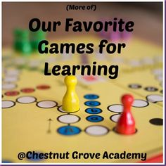 More of Our Favorite Games for Learning