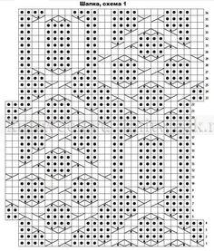 Шапка и митенки Бриджит - Схема 1