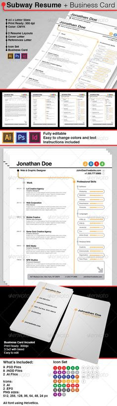 We are Presenting another Freebie This time Resume with Business - subway resume