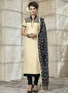 cream-khadi-silk-party-wear-embroidered-work-churidar-suit-