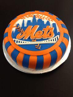 Mets Baseball Eddies Boss Appreciation Day Cake