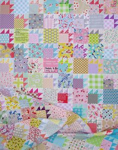 Red Pepper Quilts: A Scrap Quilt and Bear Paw Block Tutorial