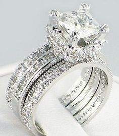 Dream Engagement Rings, Classic Engagement Rings, Engagement Wedding Ring Sets, Diamond Wedding Bands, Bridal Rings, Wedding Rings, Gold Wedding, Dream Wedding, Eternity Bands
