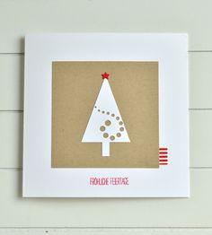 Weihnachtskarten - Weihnachtskarte - ein Designerstück von PapierGlanz bei DaWanda