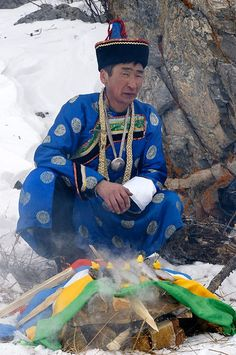 Buryat man, Baikal lake, Siberia, Russia. *The Buryats, numbering approximately 500,000, are the largest indigenous (aboriginal) group in Siberia, mainly concentrated in their homeland, the Buryat Republic, a federal subject of Russia. They are the major northern subgroup of the Mongols.