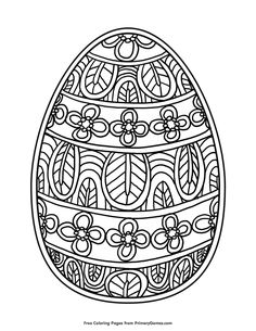 Free printable Easter Coloring Pages eBook for use in your classroom or home from PrimaryGames. Print and color this Easter Egg coloring page. drawings for kids colouring pages Easter Egg Coloring Page Free Easter Coloring Pages, Adult Coloring Book Pages, Coloring Easter Eggs, Coloring Pages To Print, Colouring Pages, Coloring Books, Kids Colouring, Easter Art, Easter Crafts