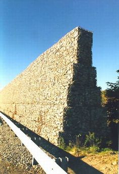 Photo of a stone crib noise barrier