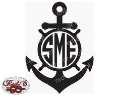 Anchor Monogram by RedEorKnot on Etsy https://www.etsy.com/listing/252467439/anchor-monogram