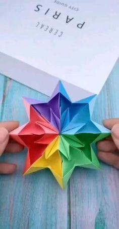 Cool Paper Crafts, Paper Crafts Origami, Diy Crafts Hacks, Diy Crafts For Gifts, Diy Craft Projects, Diy Paper, Fun Crafts, Crafts For Kids, Paper Crafting
