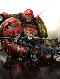 """Walk Softly And Carry A Big Gun!!"", Captain Davian Thule, Blood Angels Chapter; Space Marines, Warhammer 40K!!!!...... ;)"