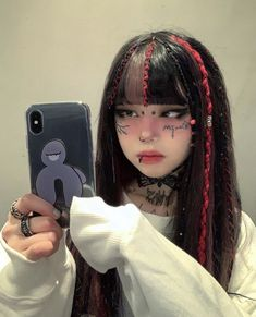 You are in the right place about grunge goth male Here we offer you the most beautiful pictures abou Asian Bridal Makeup, Asian Makeup, Aesthetic Hair, Aesthetic Makeup, Aesthetic Anime, Scene Hair, Goth Makeup, Hair Makeup, Eyeliner Trends