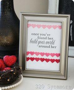 easy craft: valentine printable!