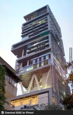 Antilia, the worlds most expensive home owned by one man.
