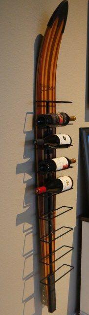 Vintage water ski wine rack