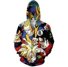 Classic Dragon Ball Z Gohan Stylish Cool 3D Zip Up Hoodie
