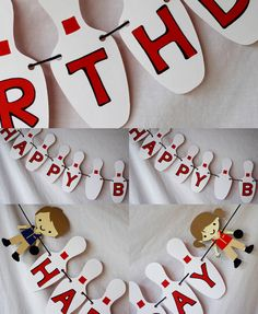 Bowling Party theme Birthday Banner or Photography Props (BANNER ONLY)