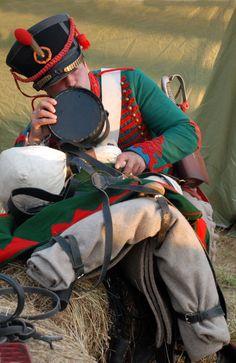 Historical reenactment of battle on Borodino field. Russia, 2012