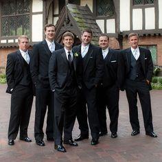 Traditional groomsmen formalwear |  Lauren Barney Photography, Inc | www.theknot.com
