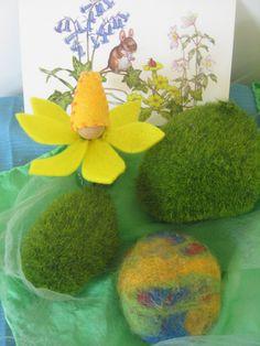Felt Spring Flower Elf - Waldorf Peg Doll / Storytelling / Toy.. $12.00, via Etsy.
