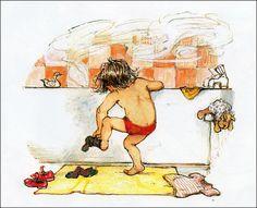 bathing.quenalbertini: Kid bath by Shirley Hughes