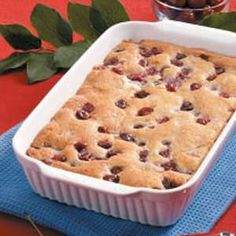 Baked Cherry Pudding Recipe -Our mother's recipes pleased all six of her children. One of my brothers was especially fond of her cherry pudding. Every time he came home, Mom would bake this cake-like treat. Now, I surprise him with it whenever he visits me.