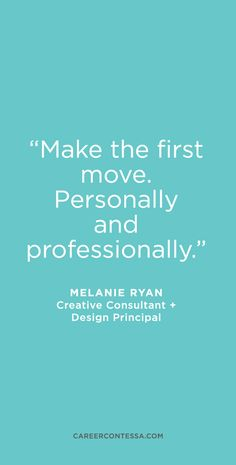 Creative Consultant and Design Principal Melanie Ryan swears by networking for opening doors and advancing your career. She has carved a creative career path by following her passions. | CareerContessa.com