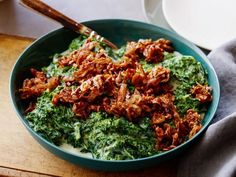 Get Creamed Kale with Caramelized Shallots Recipe from Food Network