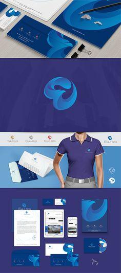 Redesign da identidade visual do Grupo Paula Dias. Eagle Logo. Corporate Brochure Design, Business Branding, Logo Branding, Brand Identity Design, Branding Design, Ci Design, Logo Desing, Booklet Design, Eagle Logo