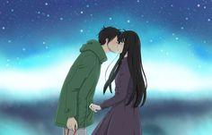 From the #anime Kimi ni Todoke, the characters Kazehaya Shota and Kuronuma Sawako. The bashful awkward couple. :)