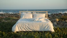 These Truly Organic Bed Sheets Are Made With Cotton, Rainwater and Wind Organic Cotton Sheets, Cotton Sheet Sets, Contemporary Bed Linen, Best Bedding Sets, King Sheet Sets, Comfy Bed, Duvet Bedding, Cotton Bedding, Cool Beds