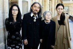 Yohji, his mother , his wife and his daughter Limi Feu