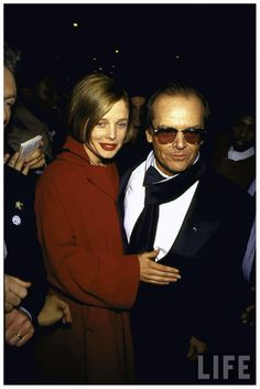 Jack Nicholson Sunglasses Series and Rebecca Broussard 1991 Here's Johnny, Famous Couples, Jack Nicholson, Hollywood Celebrities, Esquire, Celebrity Couples, Best Actor, Playboy, Weird