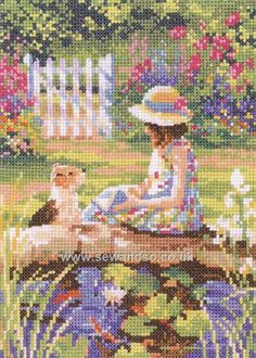 Buy+The+Reading+Lesson+Cross+Stitch+Kit+Online+at+www.sewandso.co.uk