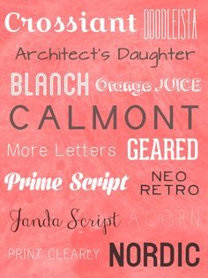 Awesome Free Fonts for 2013
