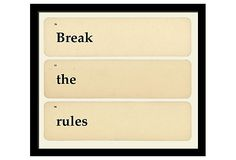 Break The Rules on OneKingsLane.com